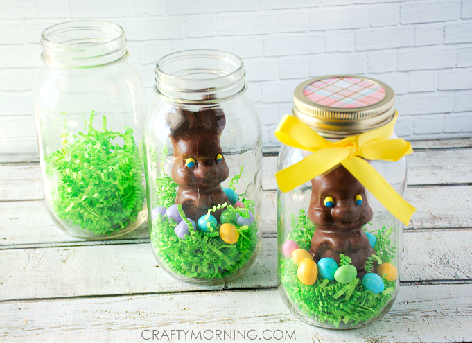 Mason jar chocolate easter bunny gifts crafty morning mason jar easter bunny gifts negle Gallery