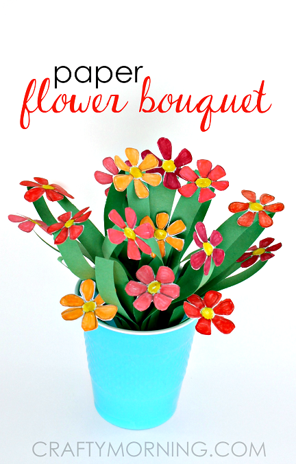 3d paper flower bouquet craft for kids crafty morning 3d paper flower bouquet craft for kids mightylinksfo Images