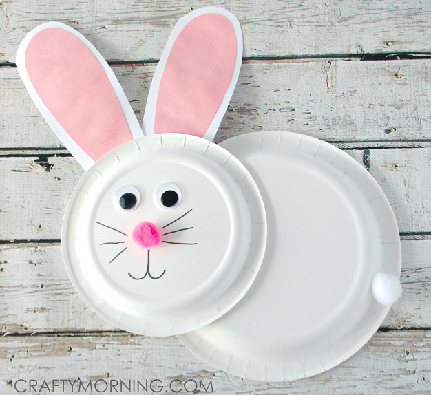 Paper Plate Bunny Rabbit Craft For Kids Crafty Morning