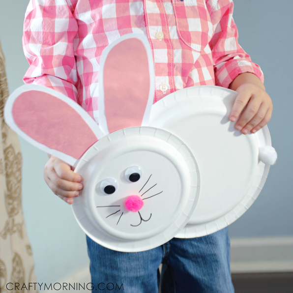 paper-plate-bunny-rabbit-kids-craft & Paper Plate Bunny Rabbit Craft for Kids - Crafty Morning