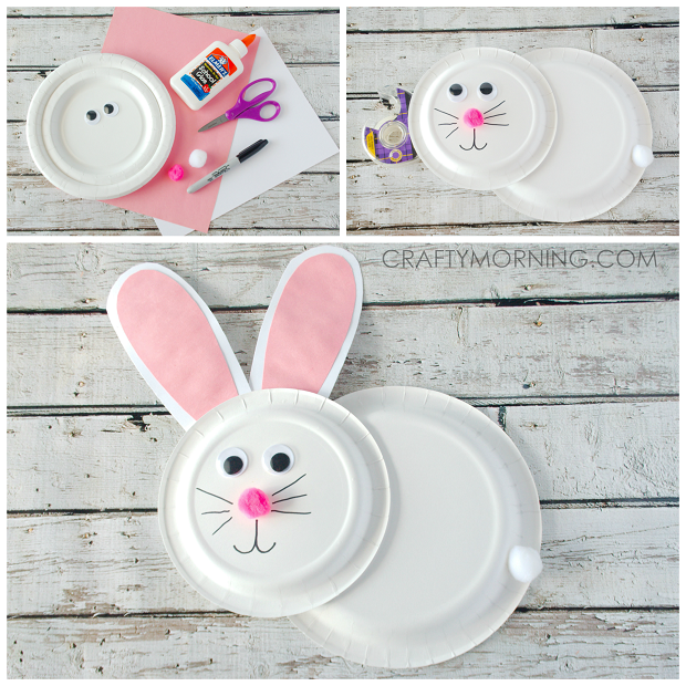 paper-plate-bunny-rabbit-kids-easter-craft  sc 1 st  Crafty Morning : pink and white paper plates - pezcame.com