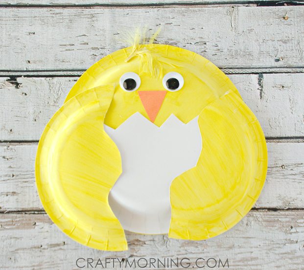 Paper plate chick craft for kids crafty morning