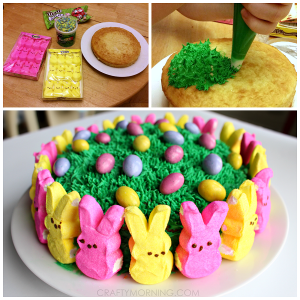 Easy Marshmallow Peeps Easter Cake