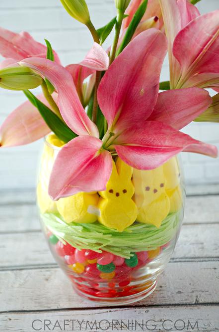 Peeps Jelly Bean Easter Vase Centerpiece Crafty Morning