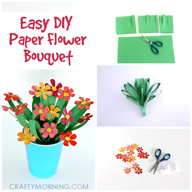 3d paper flower bouquet craft for kids crafty morning pretty paper flower bouquet kids craft mightylinksfo
