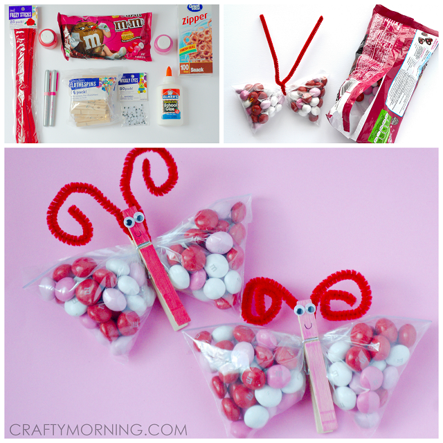 Valentine Candy Butterflies Kids Treat