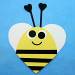 Heart Shaped Valentine Bee Craft for Kids