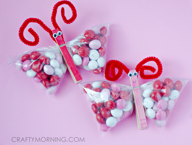 Valentine Mm Butterfly Clothespin Craft