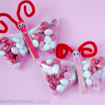 Valentine M&M Butterfly Treats
