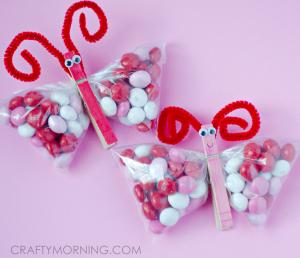 Valentine M&M Butterfly Treats