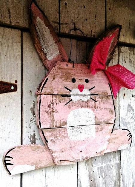 wood-pallet-easter-bunny-craft-idea