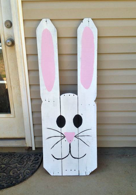 Favorite wood pallet easter projects crafty morning for Crafts made with pallets