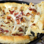 Deep Dish Chicken Alfredo Pizza Recipe