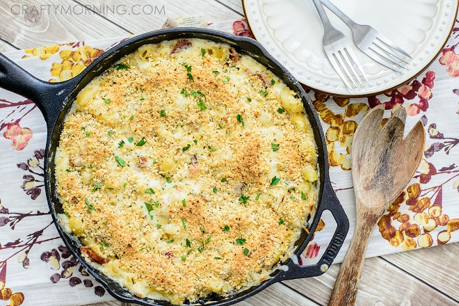 Skillet Bacon Mac and Cheese-5