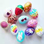 Fun Acrylic Painted Easter Eggs