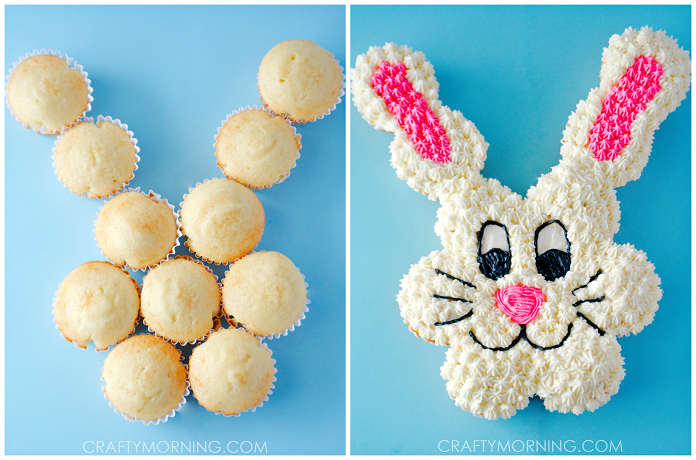 Easter Bunny Pull Apart Cupcake Cake Idea