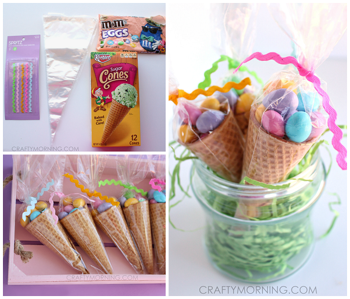 Edible easter egg cone treats crafty morning easter ice cream cone treats gifts negle Images