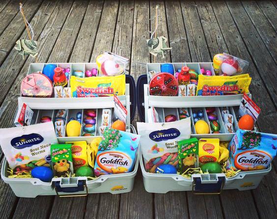 Ideas for easter baskets for kids my web value fishing tackle box easter basket idea negle Choice Image