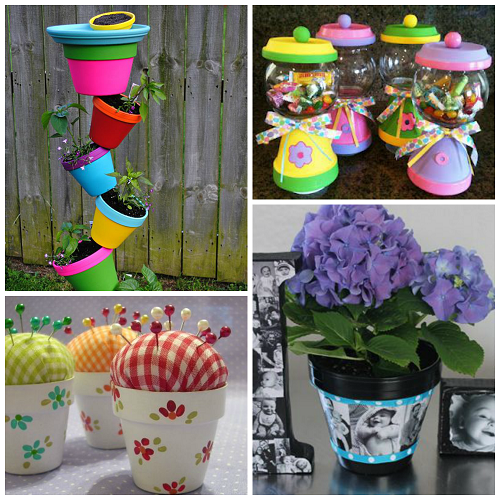 Flower pot gift ideas for mother 39 s day crafty morning - Pretty diy flower pot ideas ...