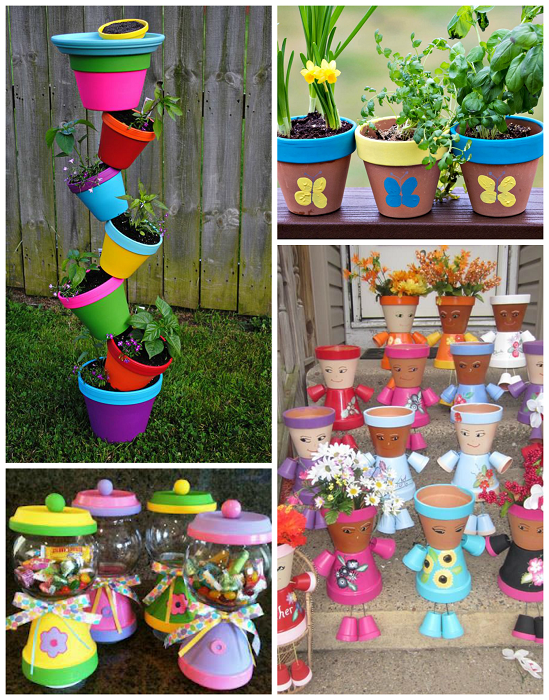 Just Put Some Potting Pots Together To Make These Cute