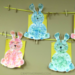 Footprint/Handprint Easter Bunny Craft for Kids