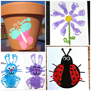 Darling Spring Footprint Crafts for Kids