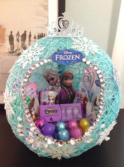 Frozen String Balloon Easter Basket