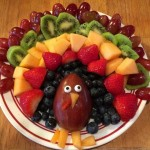 Fruit Turkey Platter for Thanksgiving