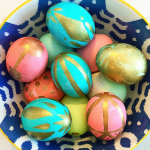 Gold Painted Easter Eggs