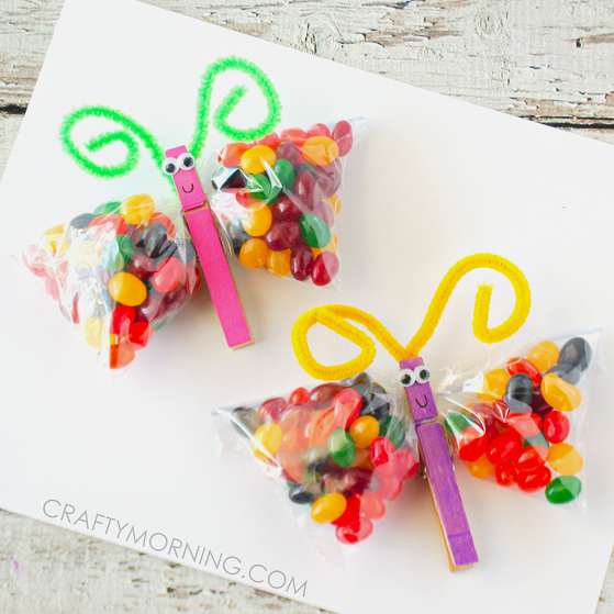 Jelly Bean Butterfly Treat Bags Crafty Morning