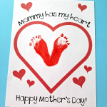 """Mommy Has My Heart"" Mother's Day Printable"