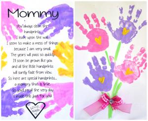 image regarding Handprint Poem Printable named Printable Handprint Moms Working day Poem - Cunning Early morning