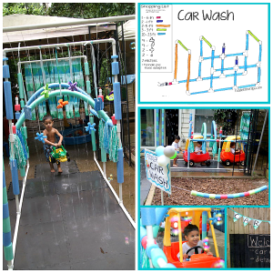 Make a PVC Pipe Kiddie Car Wash