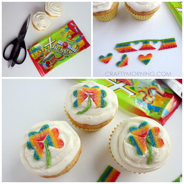 rainbow-candy-shamrock-cupcakes-st-patricks-day-