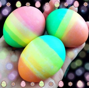 Rainbow Dipped Easter Eggs