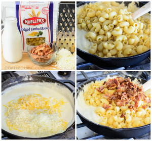 Skillet Bacon Mac & Cheese Recipe