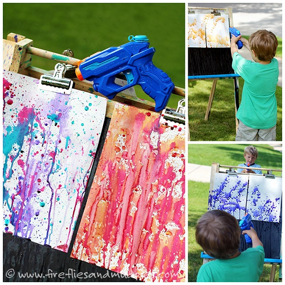 squirt-gun-painting-collage