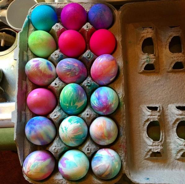 Tie Dye Easter Egg Decorating Idea Crafty Morning