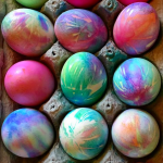 Tie-Dye Easter Egg Decorating Idea