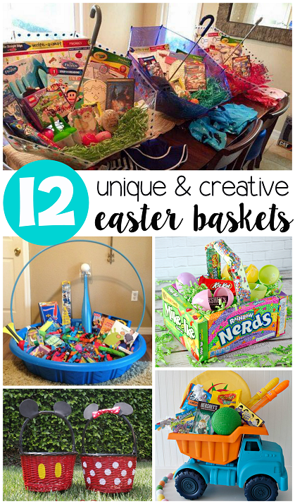 Unique easter basket ideas for kids crafty morning unique creative easter basket ideas for kids negle Choice Image