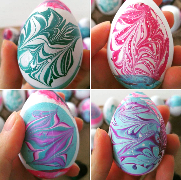 Water Marble Easter Egg Decorating Crafty Morning