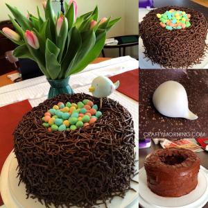 How to Make a Birds Nest Cake