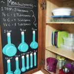 DIY Chalkboard Cabinet (Measuring Cup Holders)