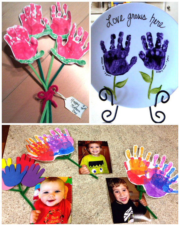 Mother 39 s day handprint crafts gift ideas for kids to for Mothers day painting crafts