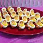 Deviled Egg Babies for a Baby Shower