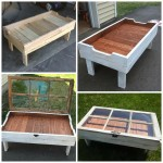 DIY Wood Pallet Window Coffee Table