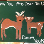 Footprint Deer Canvas for Father's Day