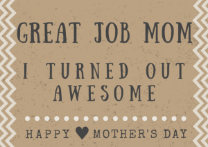 Funny Mother's Day Poem Card Printables