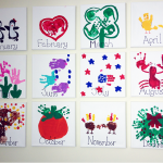 Handprint Kids Calendar Craft Idea