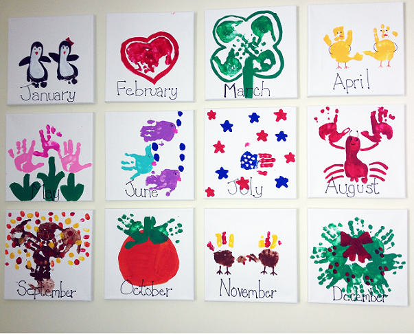 Calendar Craft Projects : Handprint kids calendar craft idea crafty morning